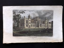 Beauties of England & Wales C1810 HCol Print. Corsham House, Wiltshire